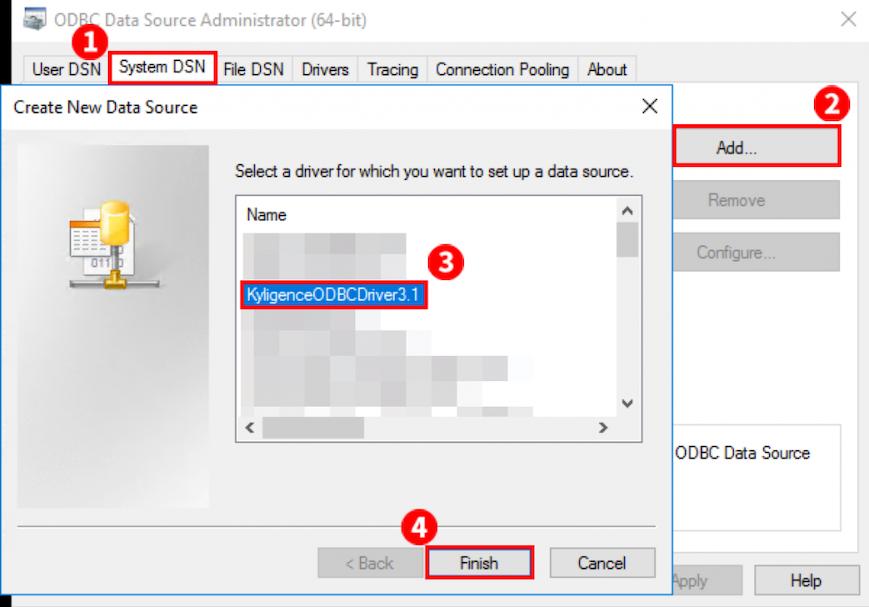 Kyligence Azure Add ODBC Driver