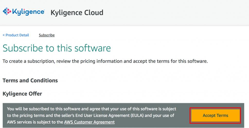 Kyligence Cloud Subscription