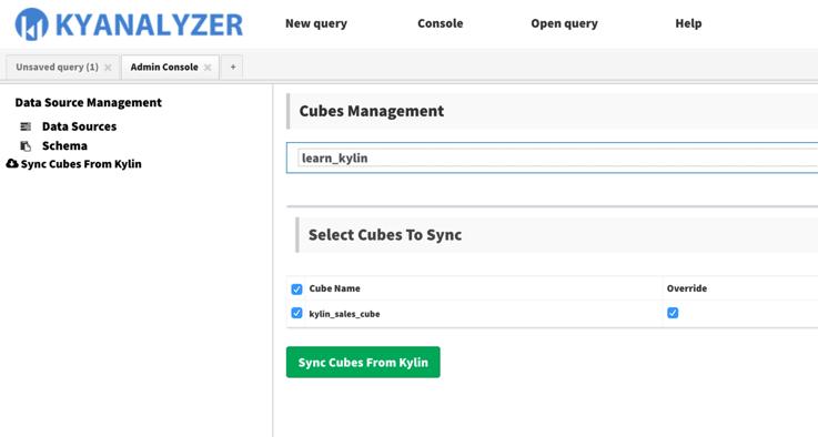 OLAP Cube Sync Process for KyAnalyzer