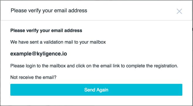 Kyligence Email Verification Process