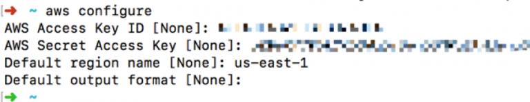 AWS Configuration Command