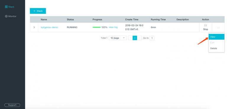 Kyligence Big Data Analytics Platform Details Page Entry
