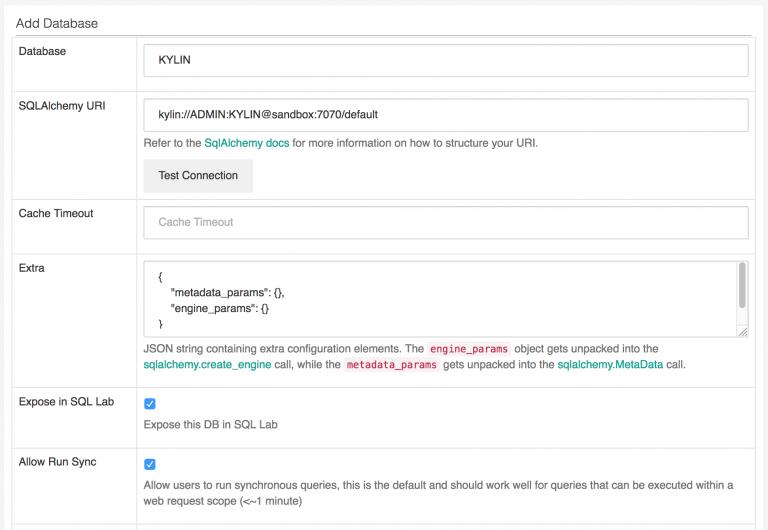 Creating an Apache Kylin Data Source